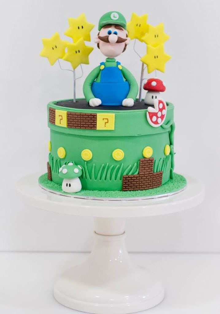 mario bros and luigi cake tarta ponona cakes