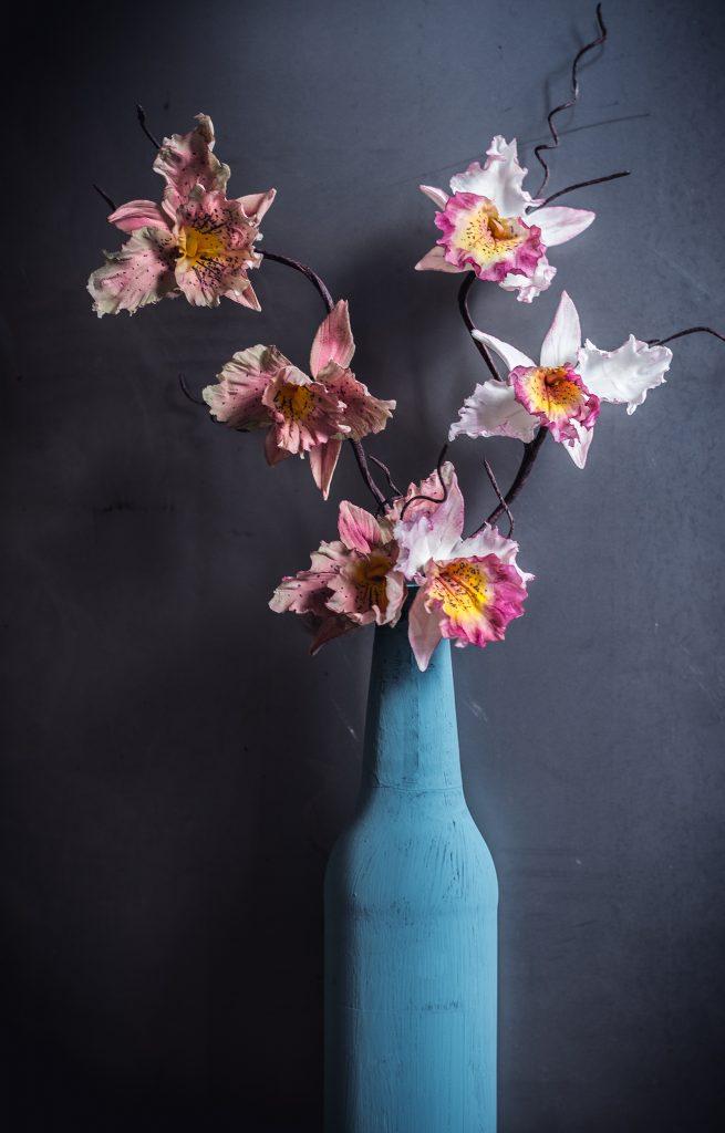 sugarpaste orchids by ponona cakes santander