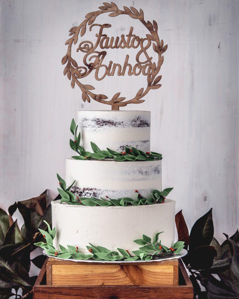 arta de boda sin fondant y hojas de olivo ponona cakes santander