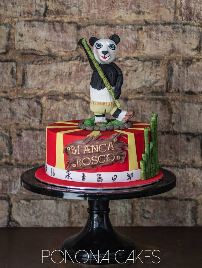 tarta kung fu panda cake ponona cakes china bambu