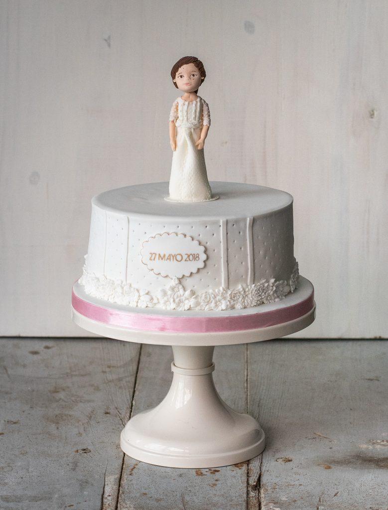 tarta niña comunión ponona cakes