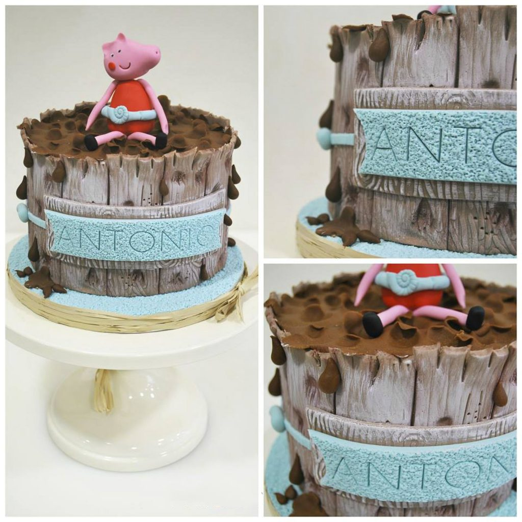 peppa pig mud barrel cake ponona cakes