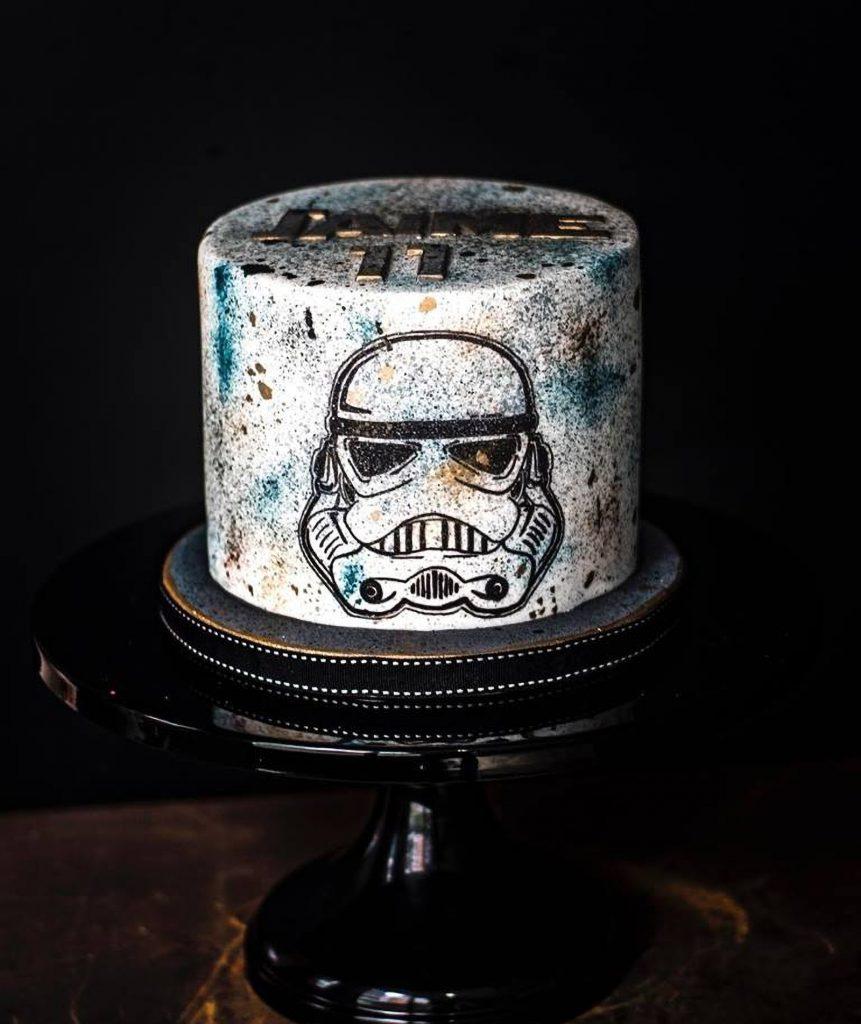 tarta star wars cake ponona cakes hand painted cake sarahs stands