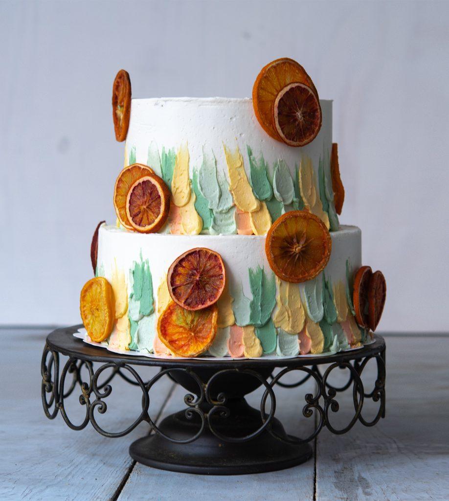 tartas sin fondant ponona cakes santander buttercream y citricos deshidratados
