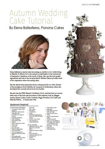 ponona cakes cake masters magazine tarta arbol tree trunk cake