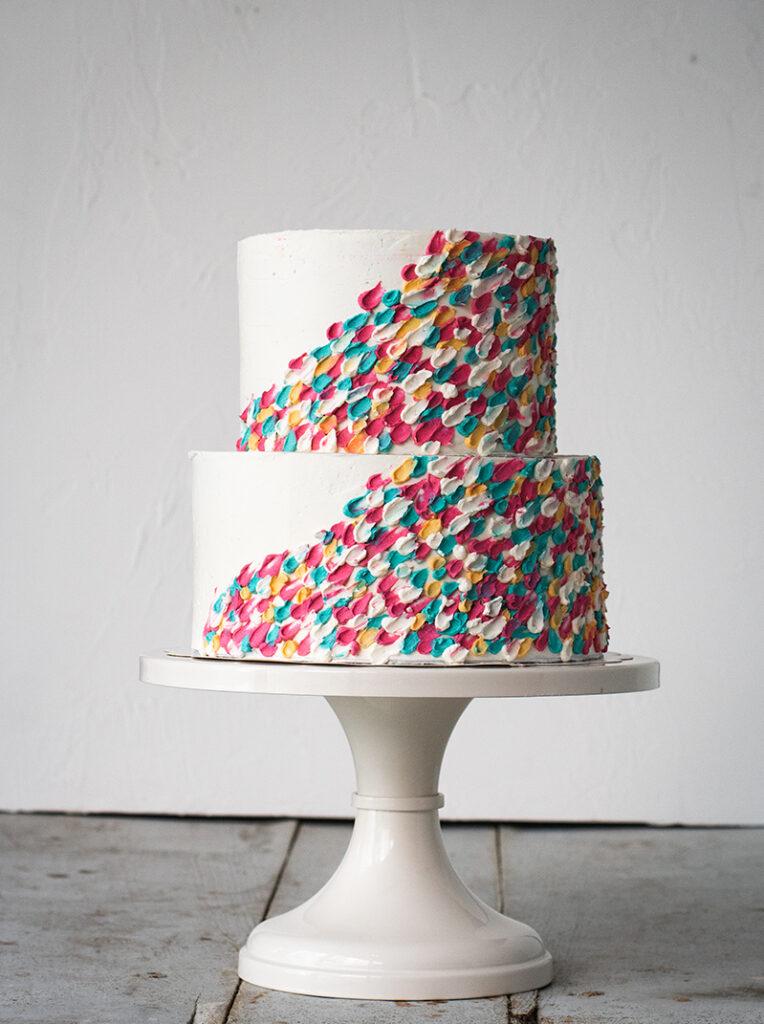 BUTTERCREAM PALETTE PAINTING PONONA CAKES-SARAHS STANDS