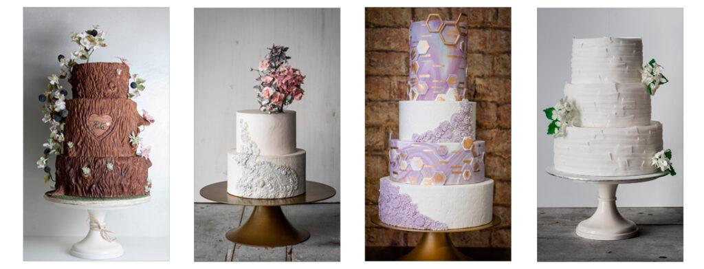 4 tartas de boda elaboradas por ponona cakes santander